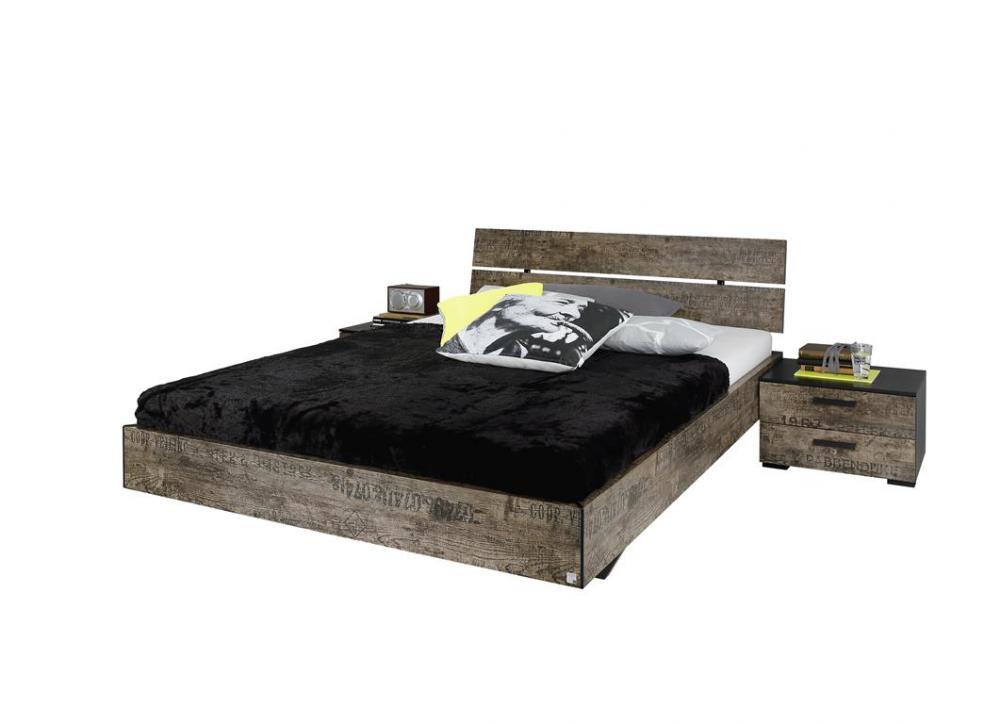 wasserbett vintage altholz optik bett gr e nach wahl 180x200 160x200 140x200 ebay. Black Bedroom Furniture Sets. Home Design Ideas