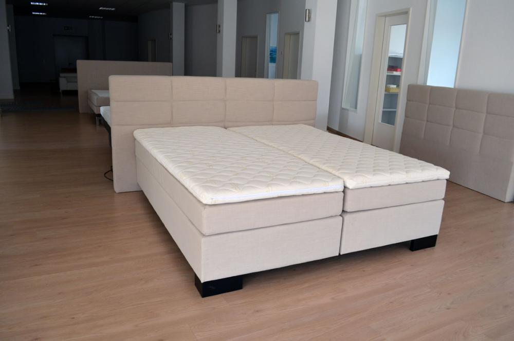 180x200 cm boxspringbett schlafzimmer federkern matratze hotelbett natur weiss ebay. Black Bedroom Furniture Sets. Home Design Ideas